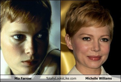 actor,celeb,funny,mia farrow,Michelle Williams,TLL