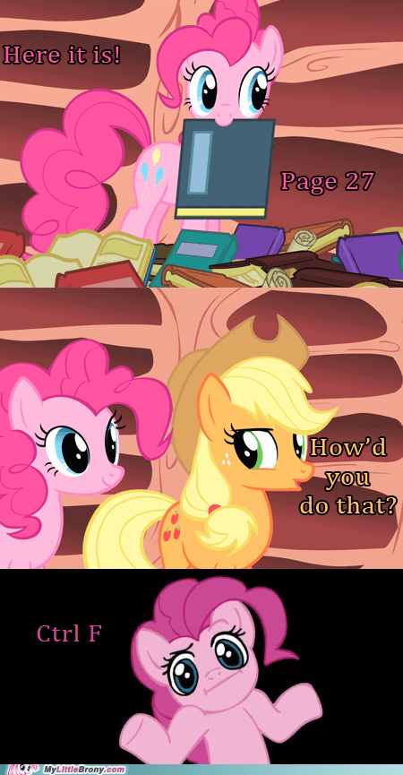 applejack cheat comic comics ctrl f find pinkie pie - 6000211712