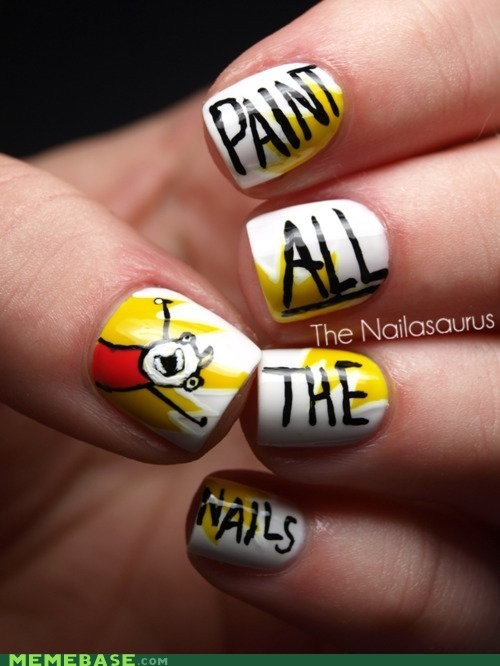 all the things,cooool,nailasaurus,nails,paint
