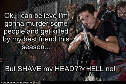 believe,best friend,john bernthal,killed,murder,shane walsh,shaved head,The Walking Dead