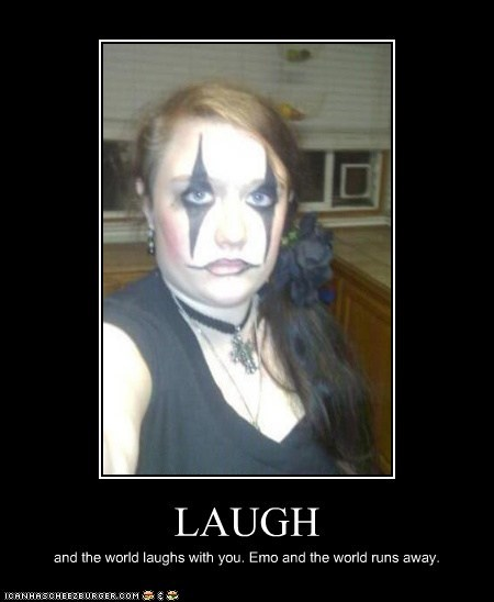 emo,emolulz,juggalo,laugh