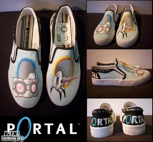 DIY,fashion,nerdgasm,Portal,shoes,video games