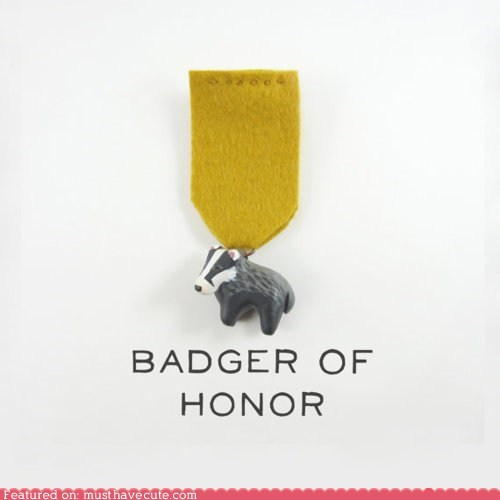 award,badge,badger,best of the week,pun,ribbon