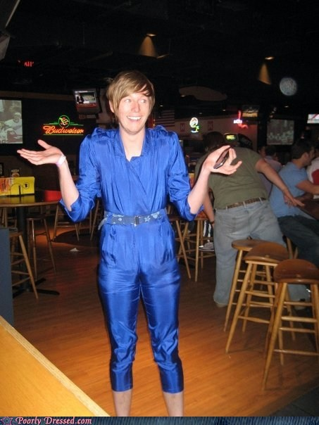 blue jumpsuit blue suit jumpsuit Mad Magazine - 6000525312