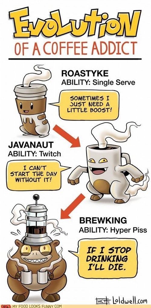 best of the week caffeine coffee drawing evolution Pokémon - 6000587008
