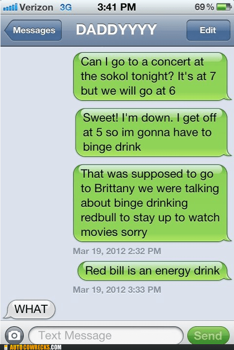 dad,drinking,parenting,wrong number