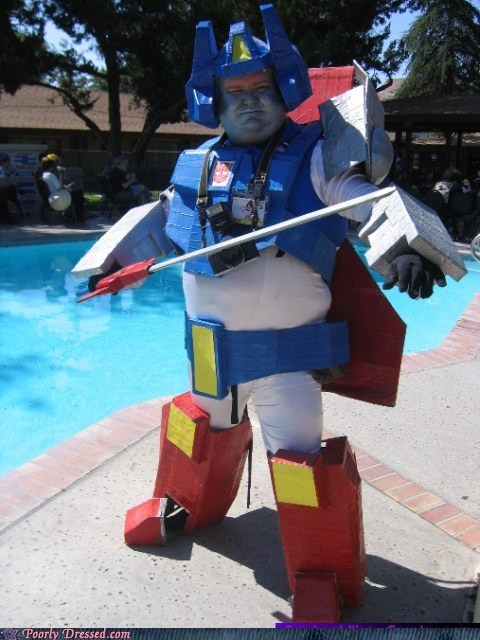 costume,couch potato,lame,pool,transformers