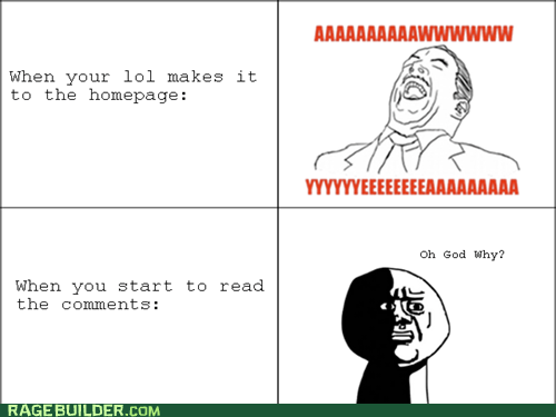 aw yeah,front page,oh god why,Rage Comics