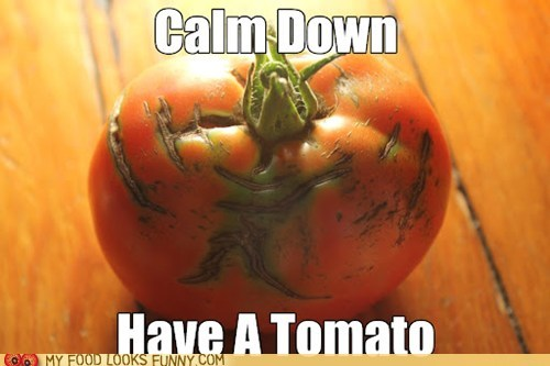 calm down,kill it,squish,stress ball,tomato