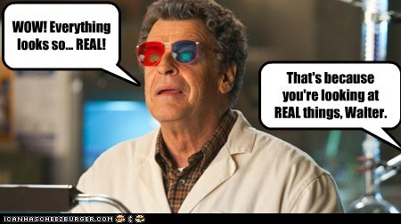 3-d glasses Fringe John Noble real things Walter Bishop