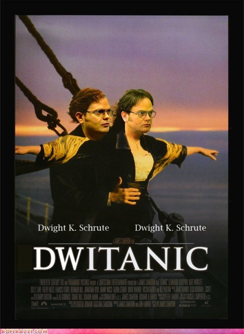 fake,funny,Movie,rainn wilson,shoop,the office,titanic,TV