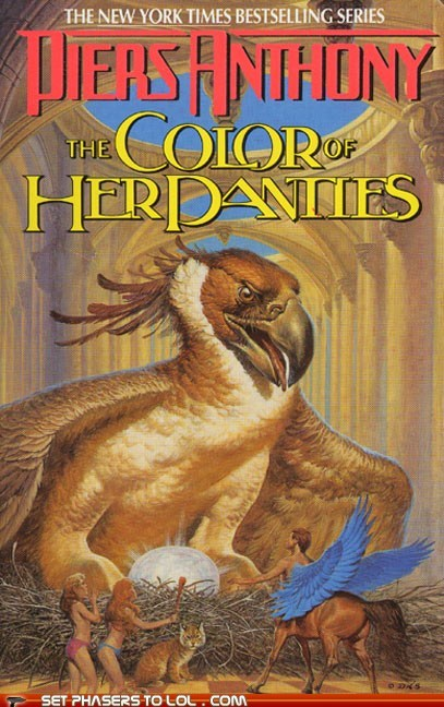 book covers,books,cover art,fantasy,panties,piers anthony,the color of,wtf,xanth