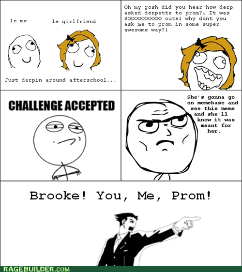 best of week,Challenge Accepted,cute,objection,prom,Rage Comics,relationships
