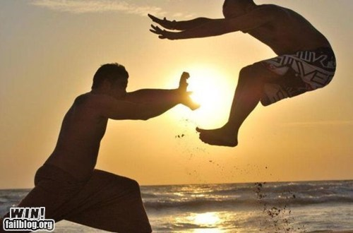 beach fight g rated hadouken Hall of Fame perspective photography timing win