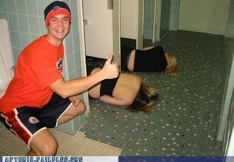 bathroom college college life passed out woo girls - 6001402880