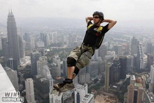 base jumping later Like a Boss parachute peace stunt - 6001449216