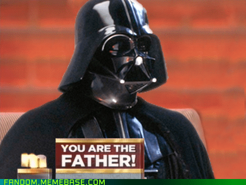 darth vader Father It Came From the Interwebz maury star wars - 6001869568