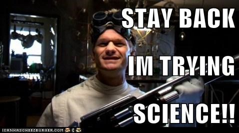 dr horrible,freeze ray,Neil Patrick Harris,science,stay back,trying