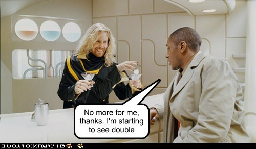 arms,ford prefect,Hitchhikers Guide To the Galaxy,Mos Def,pan-galactic gargle blaster,Sam Rockwell,seeing double,zaphod beeblebrox