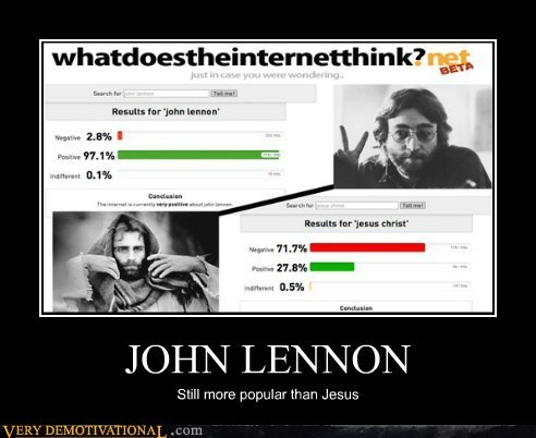 hilarious internet jesus john lennon popular - 6002504960