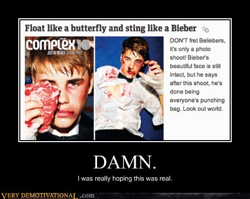 boxing fake justin bieber punched Sad - 6002678528