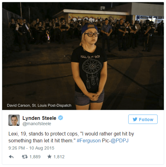 cops,michael brown,twitter,ferguson,lexi,list,ferguson riots