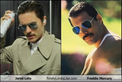 actor,celeb,freddie mercury,funny,jared leto,Music,TLL