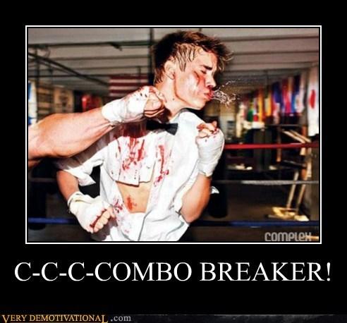 combo breaker,justin bieber,punch,Terrifying