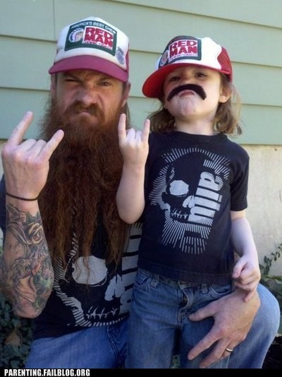 beard,mustache,rock on