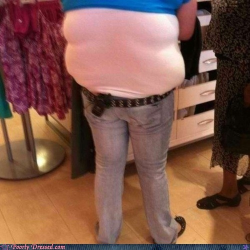 form fitting top ice cream spilling over tight shirt