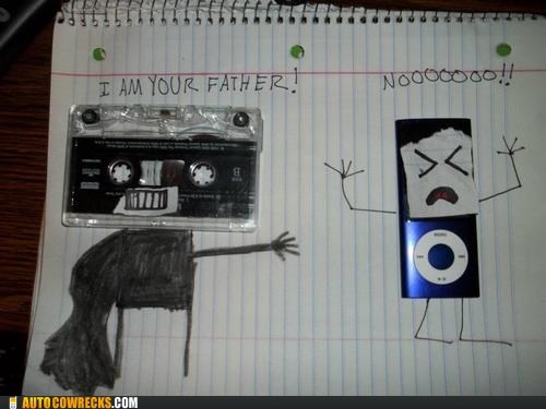 cassette,cassette tape,darth vader,i am your father,ipod,star wars