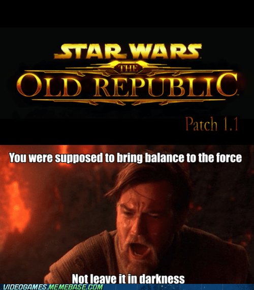 balance to the force,darkness,MMO,patch,star wars,the internets,the old republic