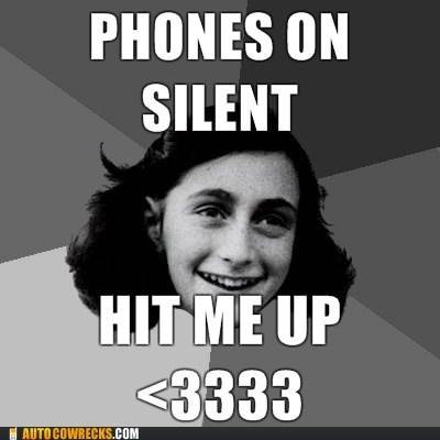 anne frank inappropriate meme nazi silent - 6004275968