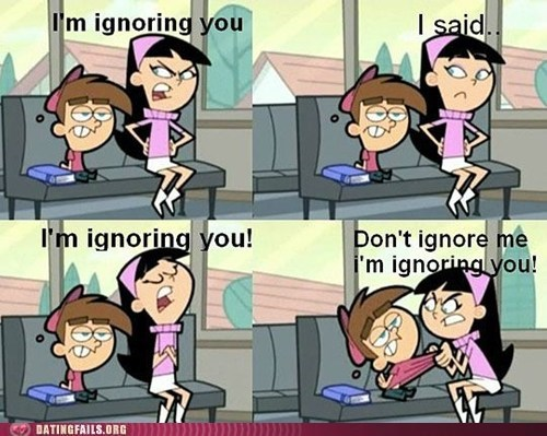 Fairly Oddparents ignoring you silent treatment