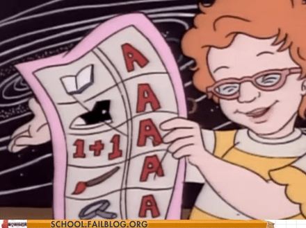 an a in shoe straight-as the magic schoolbus