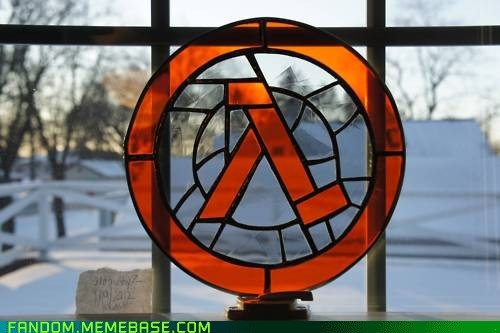 Fan Art half life stained glass video games