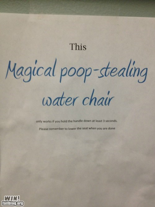 chair,clever,name,poop,sign,toilet