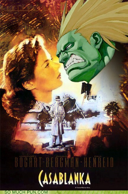 blanka casablanca double meaning Hall of Fame homophone literalism Movie poster shoop Street fighter street fighter II suffix - 6004586240
