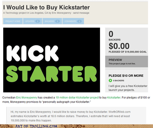 buy fundraiser kick starter
