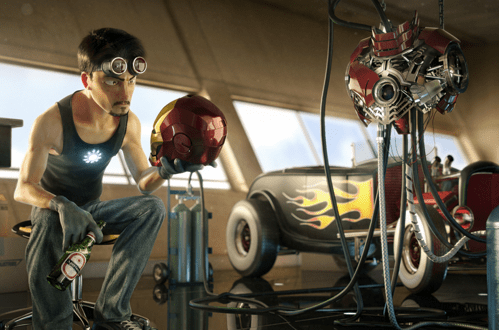 cg,Fan Art,iron man,pixar,tony stark,victor hugo
