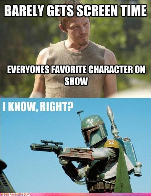 amc,boba fett,funny,Hall of Fame,Movie,norman reedus,star wars,The Walking Dead,TV
