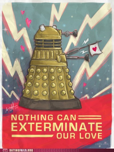 dalek,doctor who,exterminate our love,sweet robot lovin