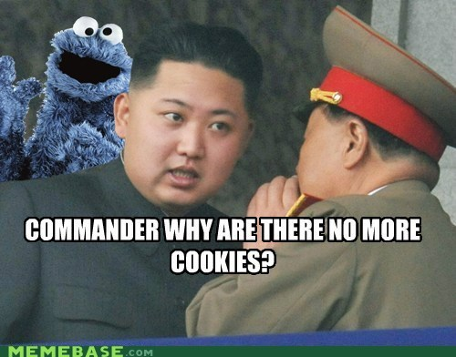 Cookie Monster,cookies,Memes,North Korea