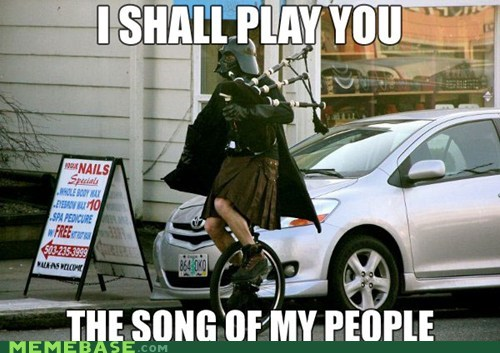 bagpipes darth vader march Memes song of my people - 6005231872