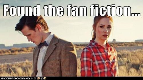amy pond doctor who embarrased fan fiction found horror karen gillan Matt Smith the doctor - 6005235456