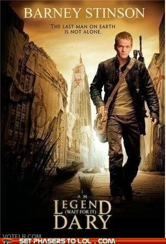 barney stinson best of the week how i met your mother i am legend legendary Neil Patrick Harris the omega man Wait For It - 6005430784