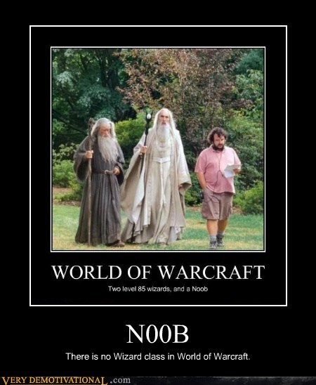 N00B There is no Wizard class in World of Warcraft.
