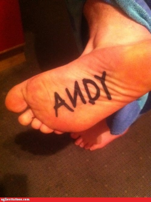 andy foot tattoo pixar toy story - 6005769216