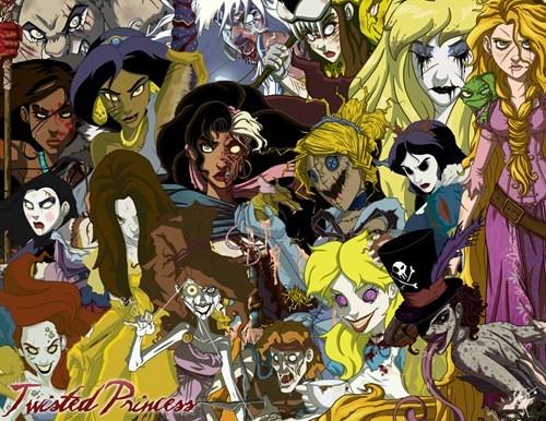 disney disney princess Fan Art scary twisted zombie - 6005830144