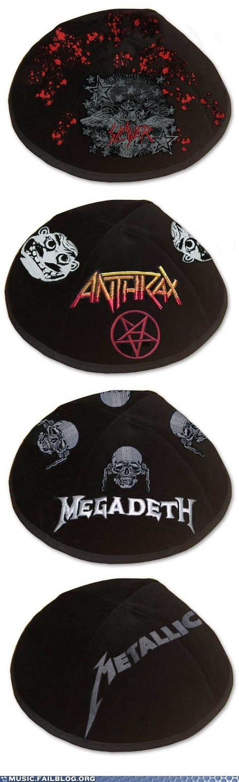 anthrax megadeth metal metallica slayer yarmulke - 6005919232